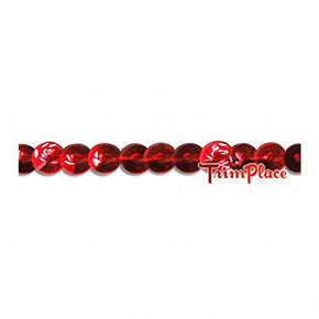 RED 4MM 3/16 INCH MINI SEQUIN