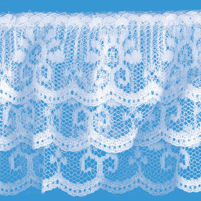 WHITE 2 1/2 INCH 3 TIER LACE