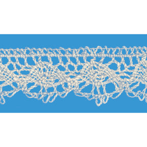 Natural 1 Inch Oval Cluny Lace Edge