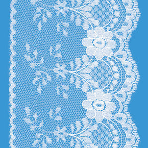 White 4 Inch Flat Lace Galloon