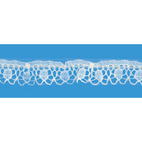 NATURAL 3/8 INCH LOOP LACE EDGE