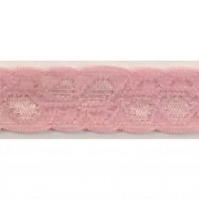 "PINK 1/2"" STRETCH LACE GALLOON"