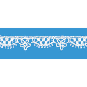 Natural 3/8 Inch Venice Lace Daisy Scallop Edge