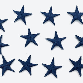 "Navy 5/8"" Star Iron-on Embroidered Applique"