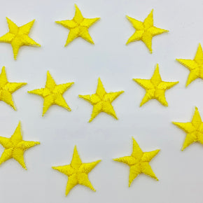 "Yellow 5/8"" Star Iron-on Embroidered Applique"