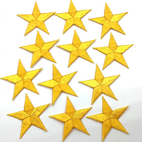 "Gold 1-5/8"" Embroidered Star Applique"