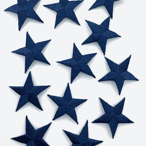 "Navy /-5/8"" Embroidered Star Applique"