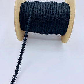 "Trimplace Black 1/4"" Pico Edge Braided Trim"