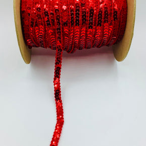 "Trimplace Red 3/8"" Single Row Sequin Trim"