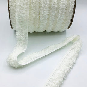 "White 1-1/4"" Cuddle Fringe"