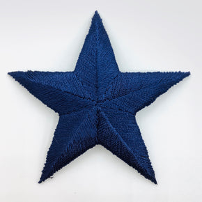 "Navy 2-3/4"" Navy Star Iron-on Embroidered Applique"