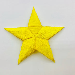 "Yellow 2"" Star Iron-on Embroidered Applique"