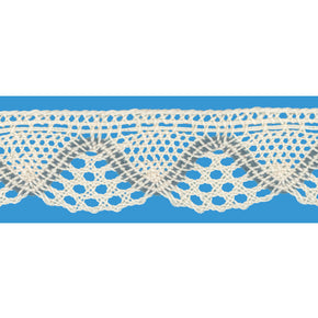 "NATURAL/WILLIAMSBURG BLUE1-1/4""  CLUNY LACE"