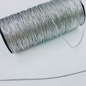 Trimplace Silver 1mm Braided Mini Cord