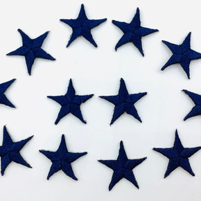 "Navy 7/8"" Star Iron-on Embroidered Applique"