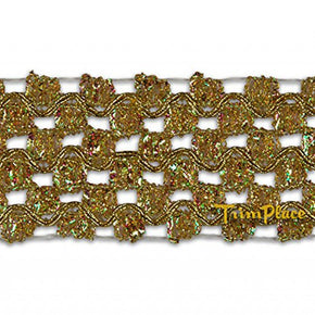 GOLD 1-3/4 INCH METALLIC WAVE INSERT