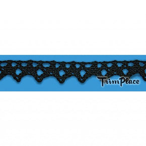 BLACK 5/8 INCH CLUNY LACE EDGE