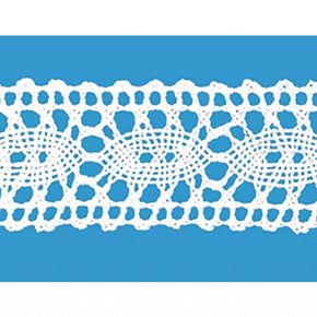 "White 1-1/4"" Oval Cluny Lace  Insert"