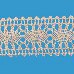"Natural 1-1/4"" Oval Cluny Lace Insert"