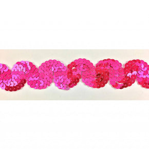 "Trimplace Fluorescent Pink 1 Inch Sequin ""S"" Trim"