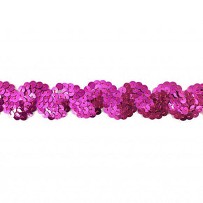 "Trimplace Fuchsia 1 Inch Sequin ""S"" Trim"