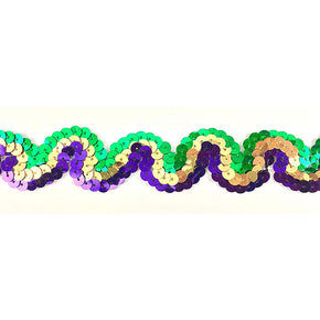 "Trimplace Mardi Gras 1 Inch Sequin ""S"" Trim"