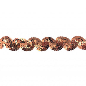 "Trimplace Bronze 1 Inch Sequin ""S"" Trim"