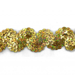 "Trimplace Gold Spotlight 1 Inch Sequin ""S"" Trim"