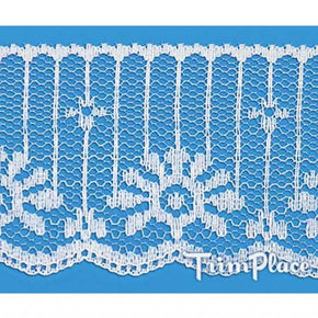WHITE 2 INCH FLAT VERTICAL LACE