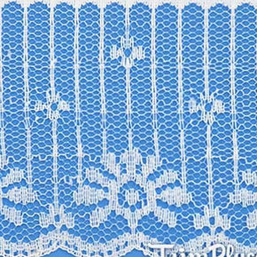WHITE 2-1/2 INCH FLAT VERTICAL LACE
