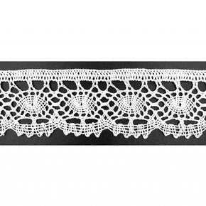 "White 1 3/8"" Vintage Classic Cluny Lace"