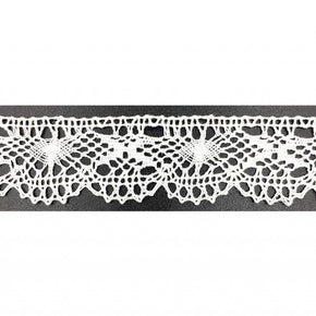 WHITE 1-1/8 INCH CLUNY LACE