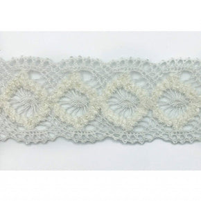 Trimplace White 1-3/4 Inch Chenille Cluny Galloon