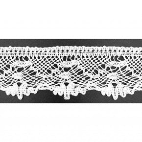 "Trimplace White 1-3/8"" Vintage Cluny Lace"