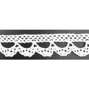 "Trimplace White 5/8"" Vintage Scalloped Cluny Lace"