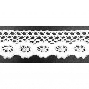 "Trimplace White 3/4"" Vintage Chenille Cluny Lace"