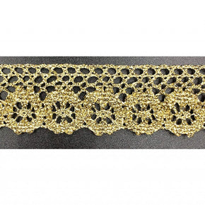"Trimplace Gold Metallic 1"" Cluny Lace"