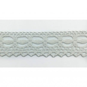 "Trimplace White 7/8"" Dainty Vintage Cluny Lace"