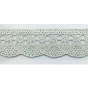 Trimplace 3/4 Inch White Fine Wave Cluny Lace