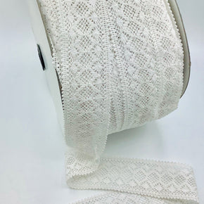 "White 2"" Cluny Lace Insert"