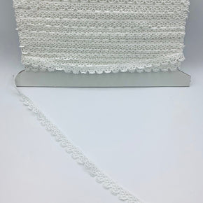 "White 5/8"" Pico Edge Venice Lace"