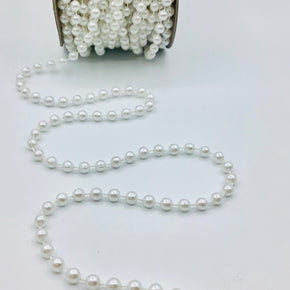 Trimplace White 6MM Pearl on Twine
