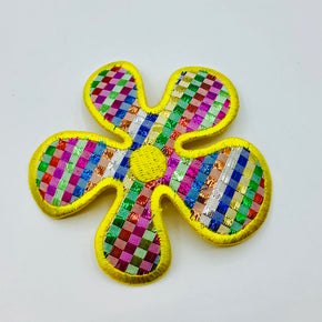 "1960's Flower Power (3-1/4"" X 3-1/4"") Heat Seal Applique - 6 Pieces"