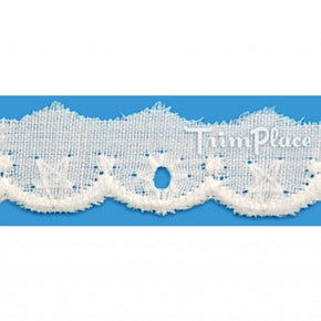 WHITE 1/2 INCH MINI EYELET LACE