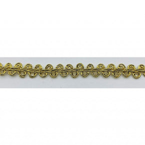"Trimplace 5/16"" Gold Metallic Scroll Gimp Trim"