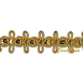 GOLD 3/4 INCH SEQUIN LOOP