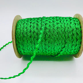 "Trimplace Kelly Green 3/16"" Metallic RIC Rac"