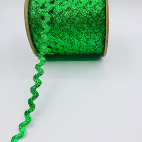 "Trimplace Kelly Green 3/8"" Metallic RIC Rac"