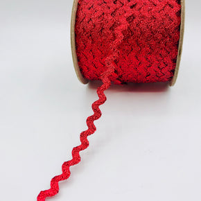"Trimplace Red 3/8"" Metallic RIC Rac"