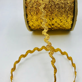"Trimplace Gold 3/8"" Metallic RIC Rac"